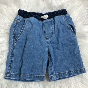 Boden boys denim shorts size 5